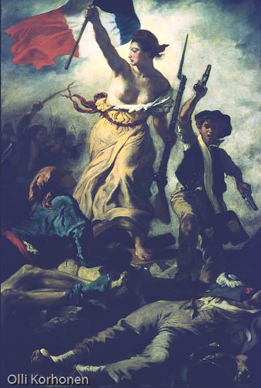 Louvre, painting, Eugène Delacroix, La liberté guidant le peuple, Liberty Leading the People