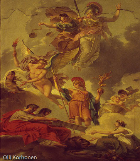 Louvre, ceiling painting
