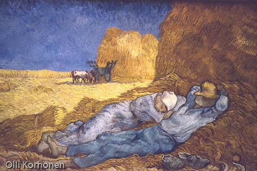 Vincent van Gogh, siesta La sieste, musee d'orsay