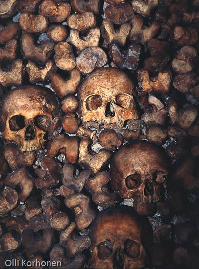 Photo, foto, Catacombes, Paris, skulls.