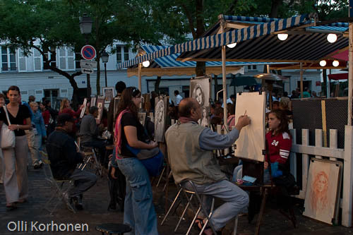 Photo, Place de la Tertre, Monmartre.