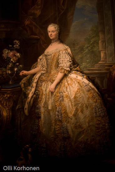 Marie Leczinsky, painting, portrait, Versailles.