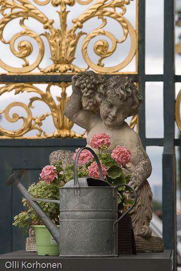 Asetelma, Tuileries'n puisto, Pariisi.