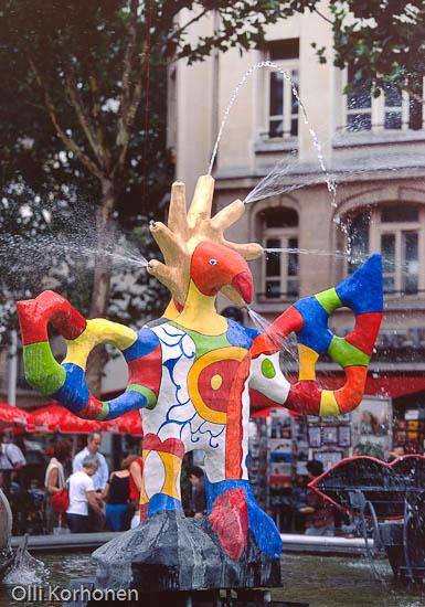 Stravinski-suihkulähde. Pariisi. Pompidou-keskus.