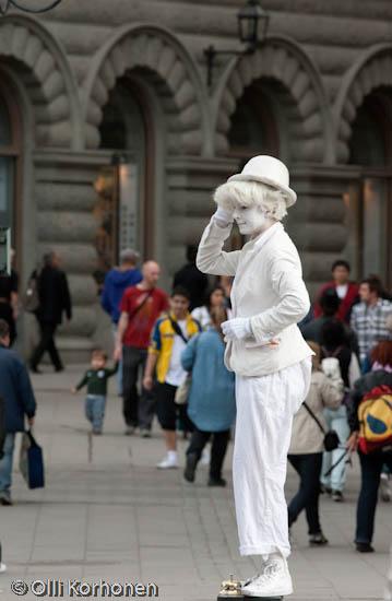 Kuva: Elävä patsas, Tukholma.
