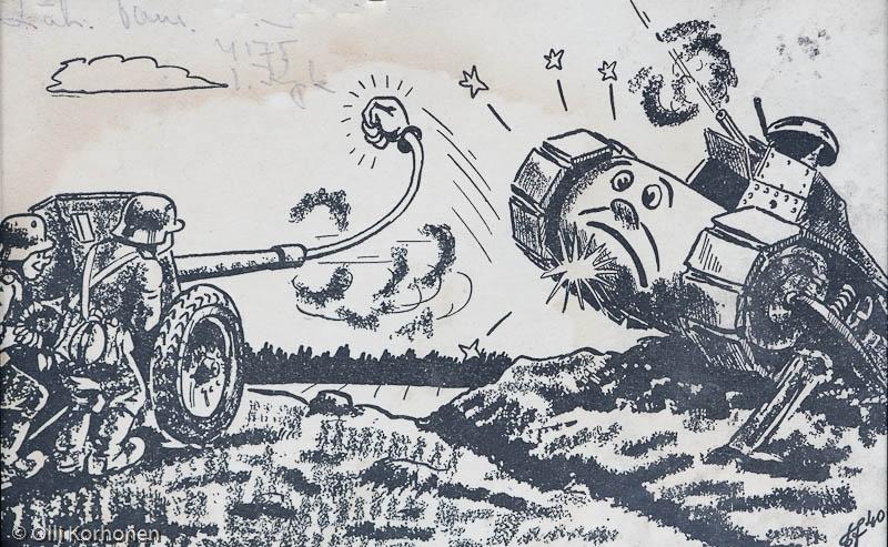 vanha sota-aikainen postikortti