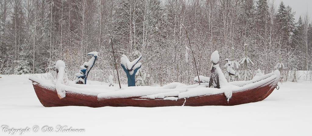 Niilo Rytkönen, soutajia lumisella pellolla