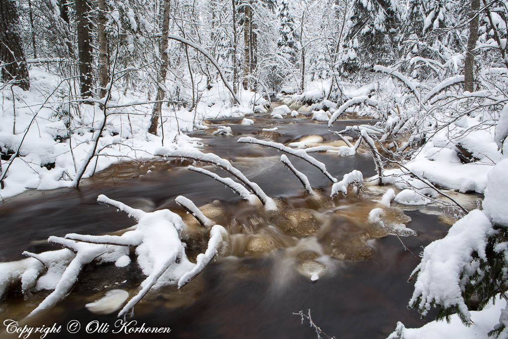 kourujoki, jäätyvä joki
