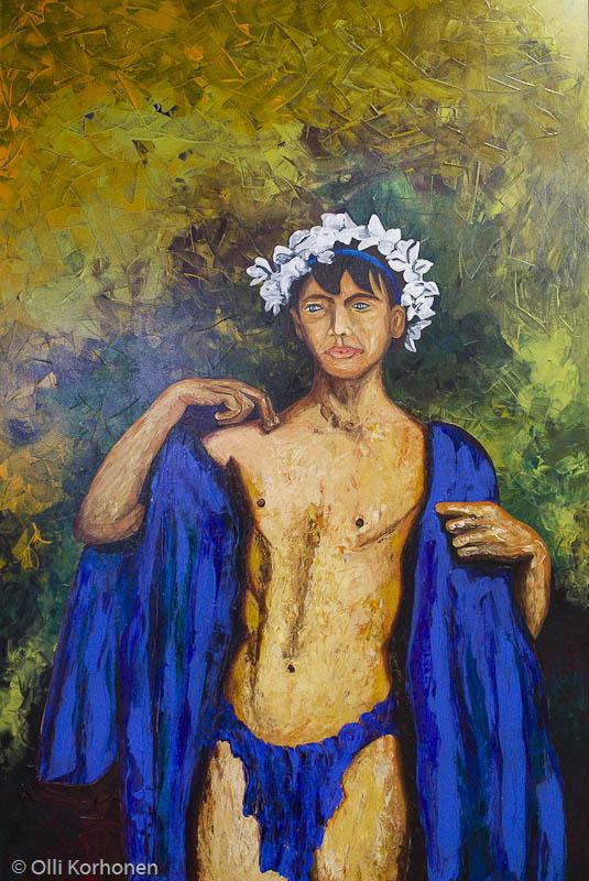 Öljymaalaus, taidenäyttely, Rua de Santa Maria, Funchal, Madeira.