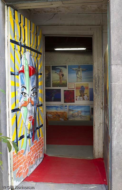 Sisäänkäynti, Wolfgang Lass\'in taidepaja, Funchal.