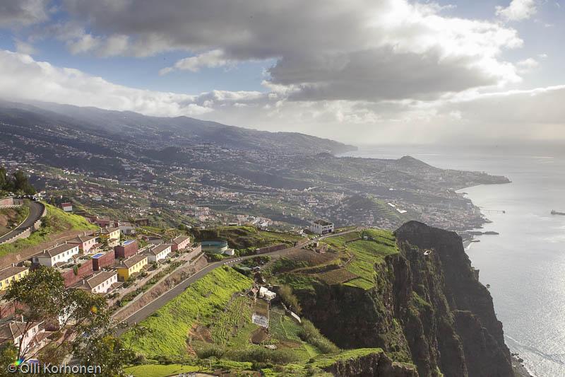 Näkymä Cabo Giraolta  yli Funchalin.