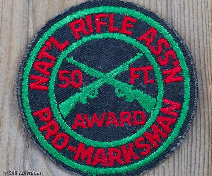 NRA Pro-Marksman award badge 1974.