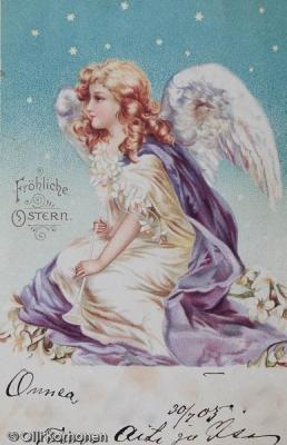 Vanha pääsiäskortti v. 1903