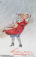 Vanha joulukortti v. 1913.
