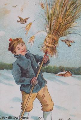 Vanha lintukortti, v. 1904.