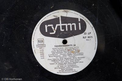 Vanha äänilevy, Toivekonsertti 18, Rytmi, 1962.