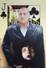 Kauppaneuvos Paukkuko, Öljymaalaus, taidenäyttely, Rua de Santa Maria, Funchal, Madeira.