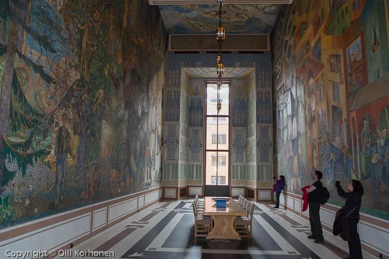 Seinämaalauksia, Kaupungintalo, Oslo