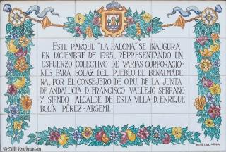 Kyyhkyspuisto, Parque la paloma, Benalmadena