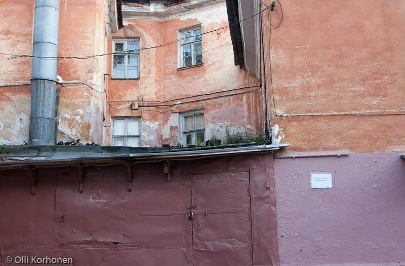 Vanhojen talojen seinäpintoja, Petroskoi 2011