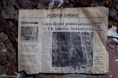 Hylätyn Nallen löytämä 2.8.1982 julkaistu Helsingin Sanomat.