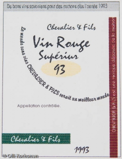 Vin Rouge Superieur.