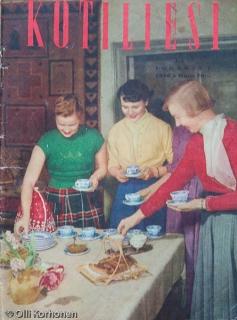 Kotiliesi, lokakuu 1956, kansikuva.