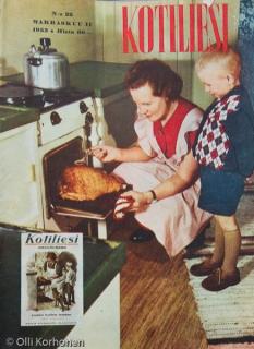 Kotiliesi, marraskuu II 1952, kansikuva.