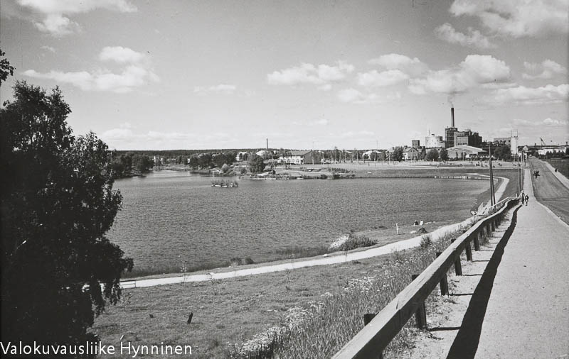 Kajaani, Kajaani Oy ja Kaupunginlampi, 1960-luku.