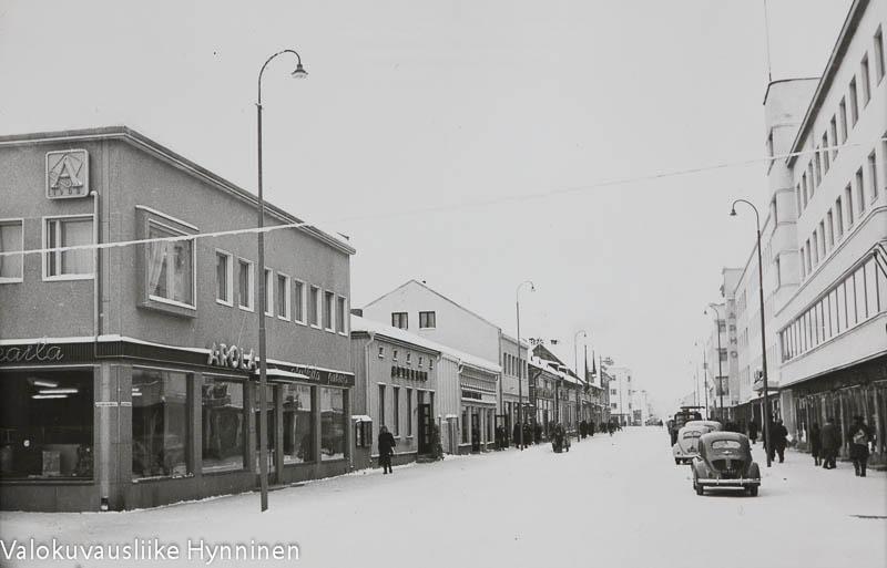Kajaani, kauppakatu, 1960-luku.