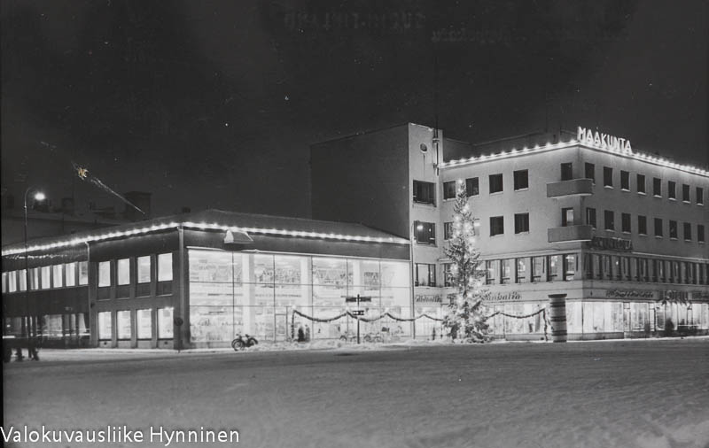 Kajaani, Raatihuoneentori, Kauppakatu, 1960-luku.