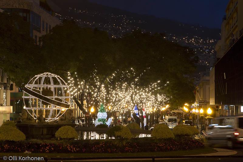 Jouluvalot, Avenida Arriaga, Funchal, Madeira.