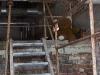 Hylätty Nalle kattilahuoneen yläkertaan vievillä portailla.