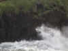 Susi hyökkää, hahmo rantatyrskyissä, Porto Moniz, Madeira.