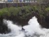 Takaa-ajo, hahmot rantatyrskyissä, Porto Moniz, Madeira.