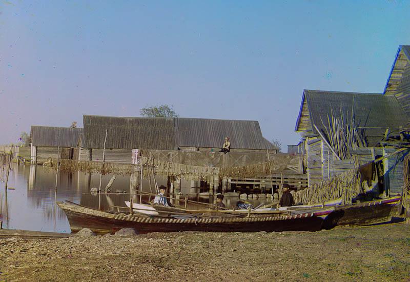 Kalastajakylä, Seliger-järvi.