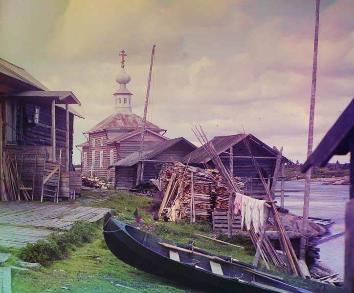 Kalastajakylä jossain Murmanskin radan varrella.