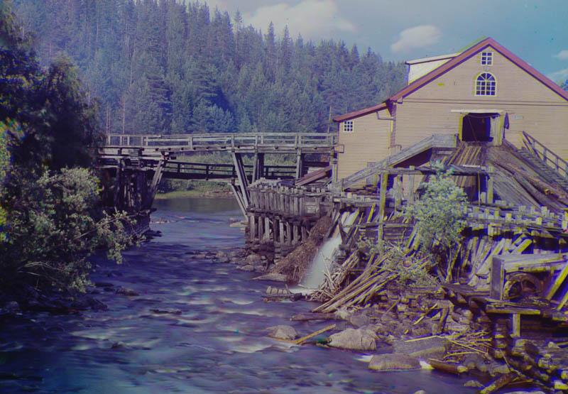 Sahalaitos Kumsa-joen varrella lähellä Goran asemaa.
