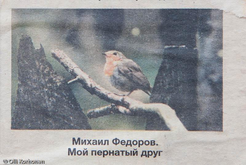 Punarinta venäläisessä lehdessä, Petroskoi 2011