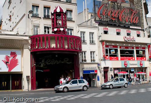 punainen mylly,moulin rouge,boulevard de clichy,montmartre,paris