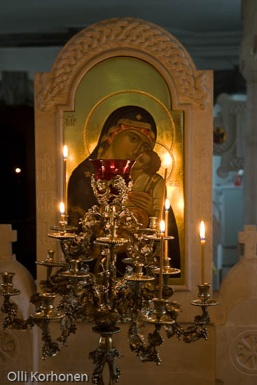 Kuva: Neitsyt Marian ikoni. Valamon luostari, Laatokka, Venäjä.