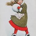 Vanha joulukortti v.1914