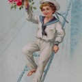 Vanha onnittelukortti v.1914.