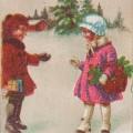 Vanha pieni joulukortti