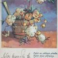 Vanha Martta Wendelinin postikortti, v. 1940.