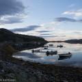 Ilta Norjan Lakselv-vuonolla