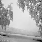 Kajaani, näkymä joelta, 1960-luku, valokuvausliike Hynninen