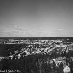 Kajaani, näkymä Lehtikankaan uudesta näköalatornista, 1960-luku, valokuvausliike Hynninen