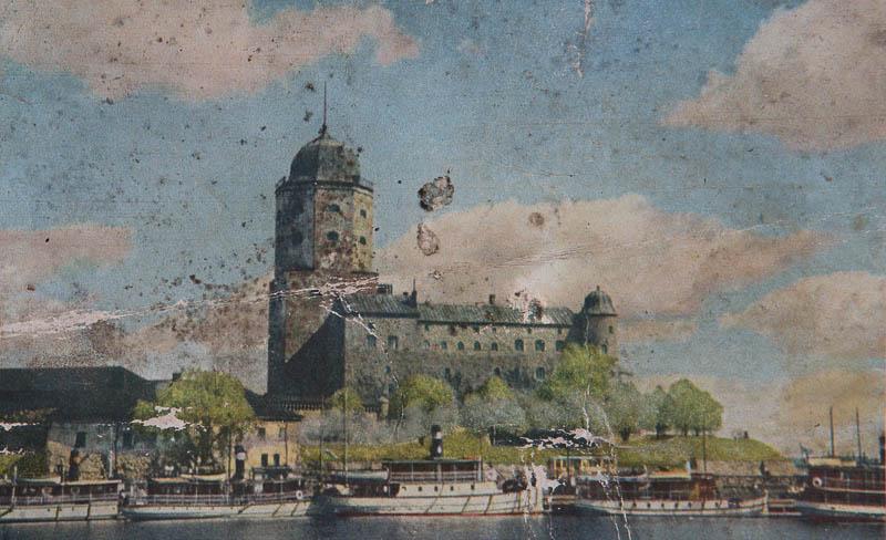 viipurinlinna, vanha postikortti
