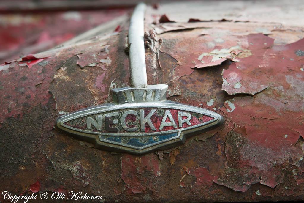 Fiat NSU Neckar Jagst 770,keulamerkki,1960 luku